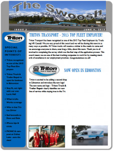 Triton Transport Newsletter The Swoosh