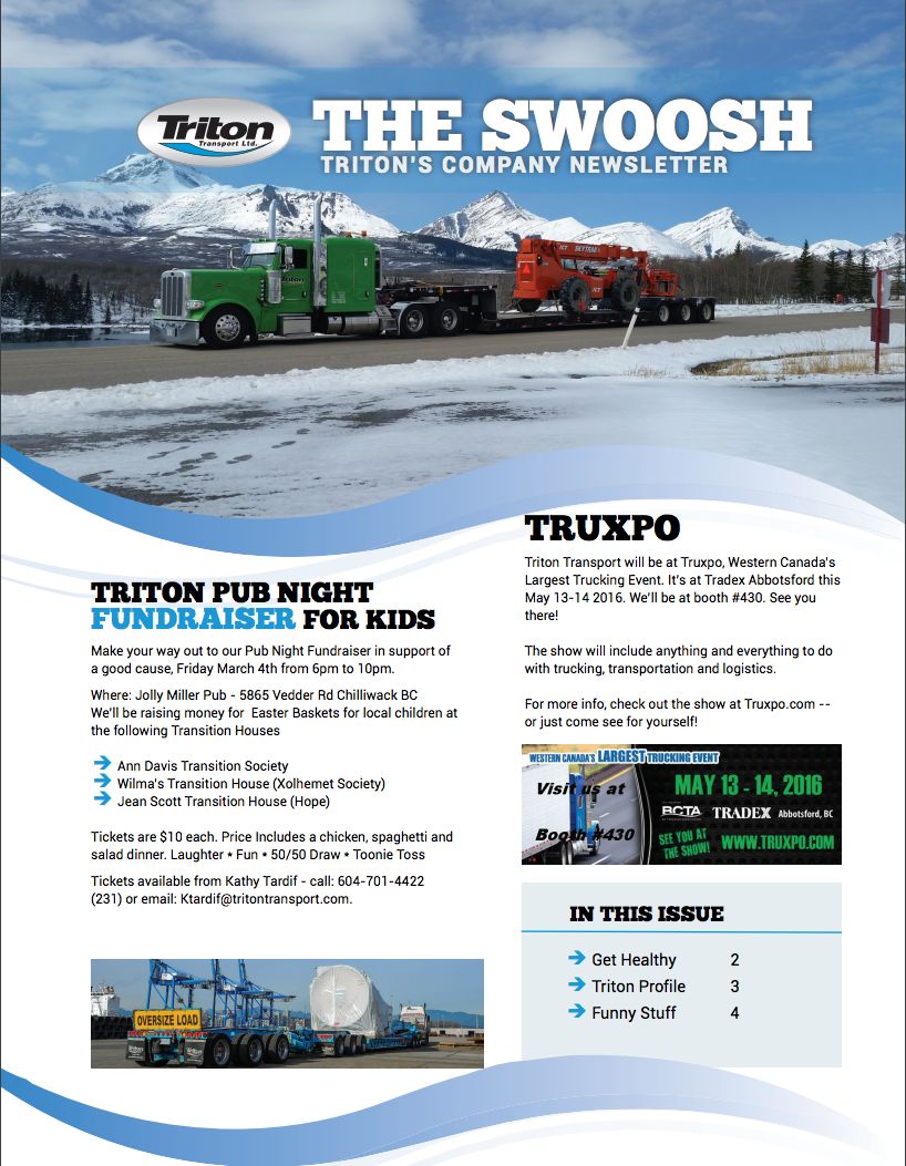 The Swoosh goes online! - Triton Transport